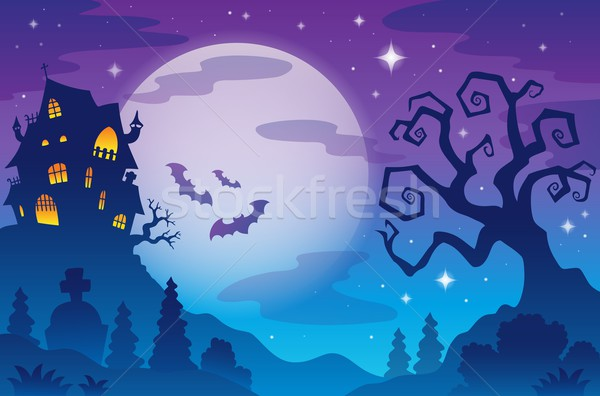 Halloween topic background 1 Stock photo © clairev