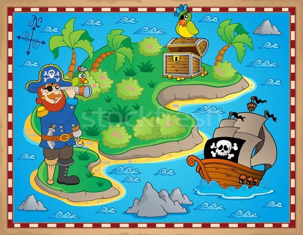 Treasure map topic image 8 Stock photo © clairev