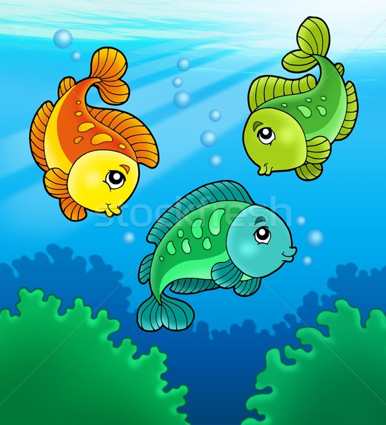 Tres cute de agua dulce color ilustración Foto stock © clairev