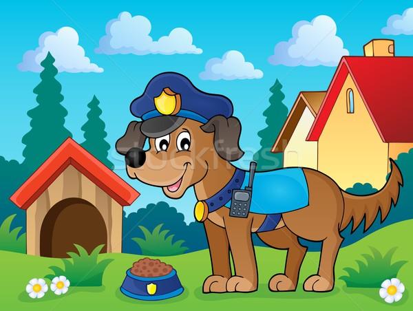Police dog theme image 2 Stock photo © clairev