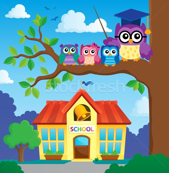 Stylized school owl theme image 7 Stock photo © clairev