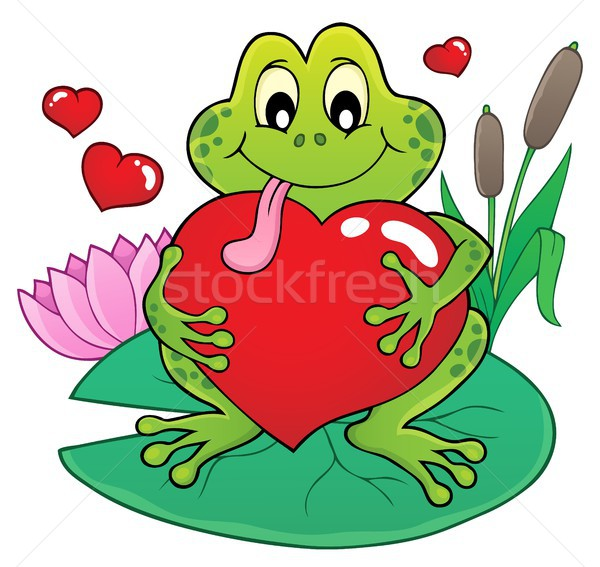 Valentine frog theme image 2 Stock photo © clairev
