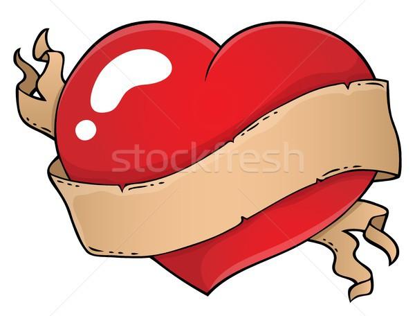 バレンタイン 中心 トピック 画像 紙 愛 ストックフォト © clairev