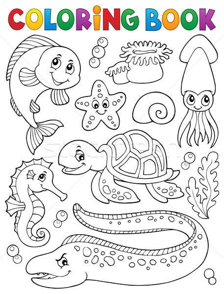 Coloring book sea life collection 1 Stock photo © clairev