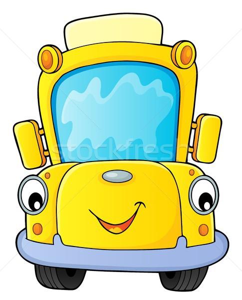 Okul otobüsü görüntü göz yüz mutlu sanat Stok fotoğraf © clairev