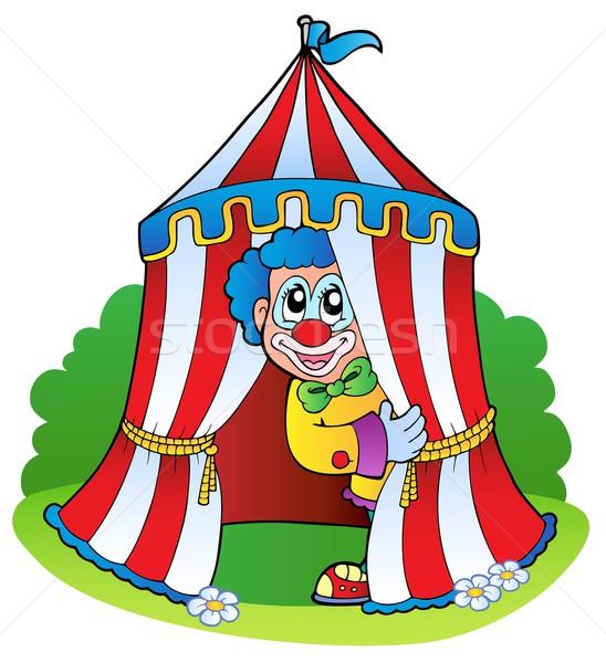 Desenho Animado Palhaco Circo Tenda Sorrir Festa