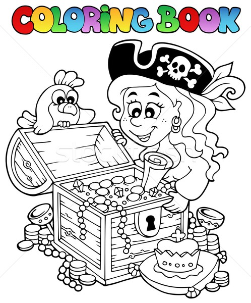 Coloring book with pirate theme 5 Stock photo © clairev