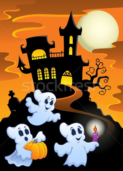 Haunted mansion with ghosts 1 Stock photo © clairev