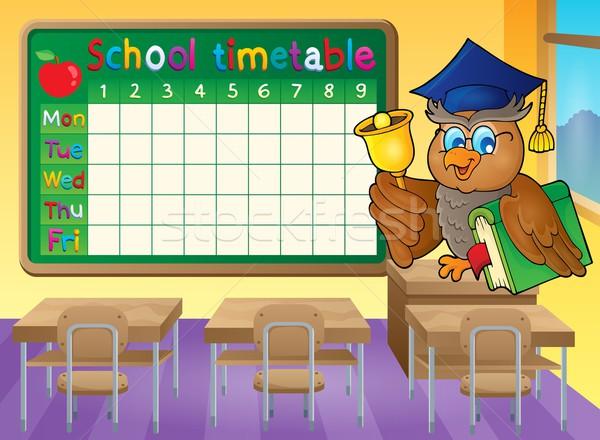 School timetable classroom theme 1 Stock photo © clairev