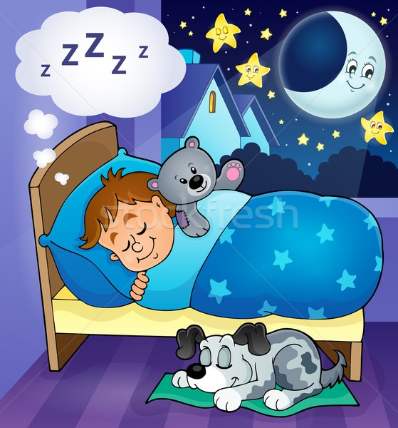 Sleeping child theme image 6 Stock photo © clairev