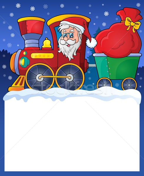 Small frame with Christmas train Stock photo © clairev