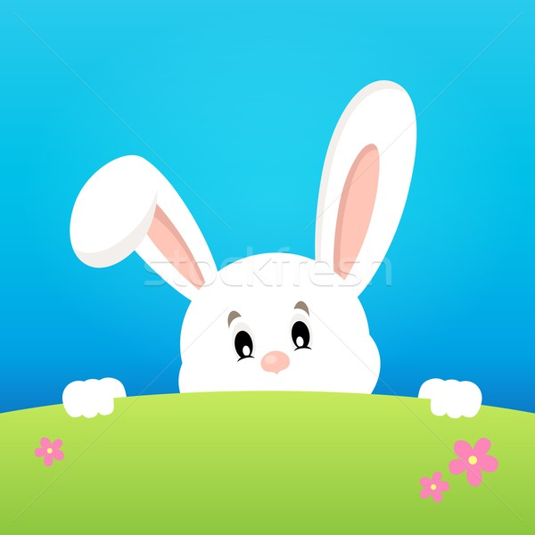 Image with lurking Easter bunny theme 2 Stock photo © clairev