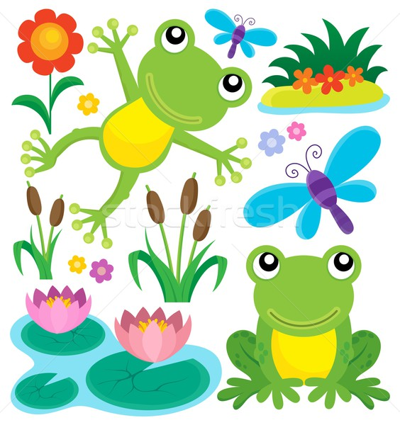 Frog thematic set 1 Stock photo © clairev
