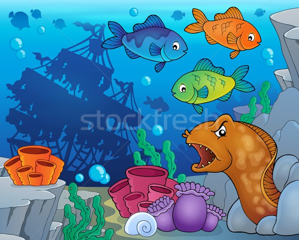 Underwater ocean fauna theme 9 Stock photo © clairev