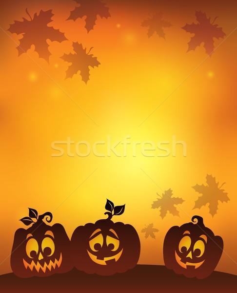 Pumpkin silhouettes theme image 7 Stock photo © clairev