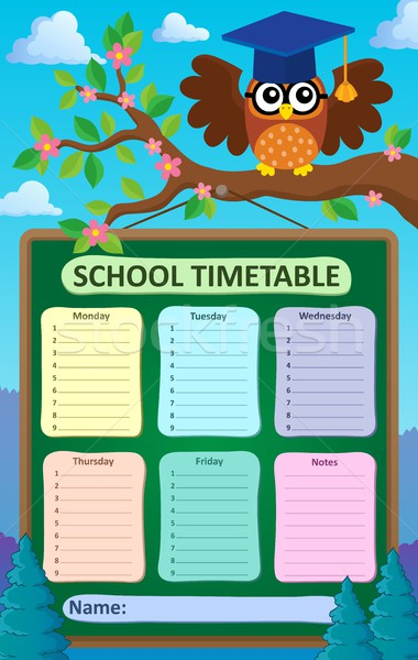 Weekly school timetable subject 5 Stock photo © clairev