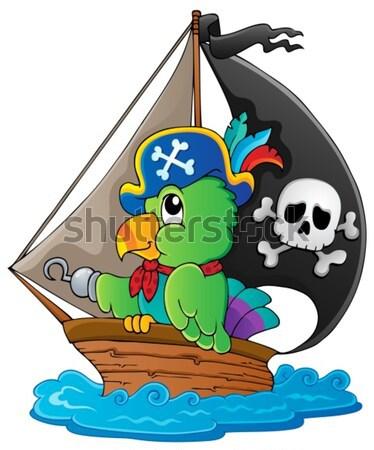 Pirate boat theme 1 Stock photo © clairev