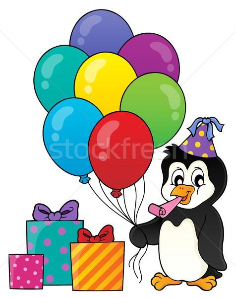 パーティ ペンギン トピック 画像 芸術 鳥 ストックフォト © clairev
