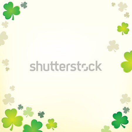 Drie blad klaver natuur kunst bladeren Stockfoto © clairev