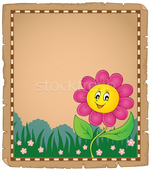 Pergamino feliz flor papel naturaleza hoja Foto stock © clairev