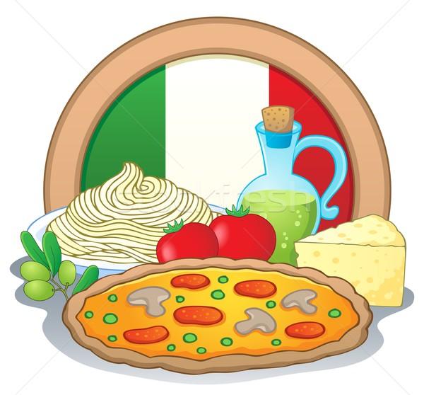 Cucina italiana immagine alimentare pizza design arte Foto d'archivio © clairev