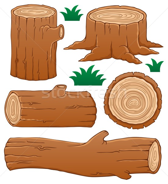 Log theme collection 1 Stock photo © clairev