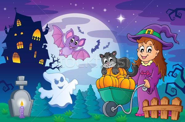 Halloween topic scene 2 Stock photo © clairev