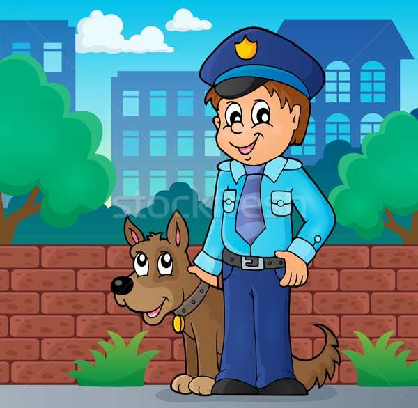 Policeman with guard dog image 2 Stock photo © clairev