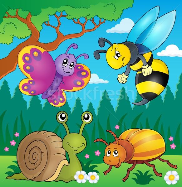весны животные насекомое изображение трава рисунок Сток-фото © clairev