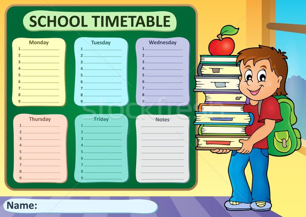 Weekly school timetable theme 3 Stock photo © clairev