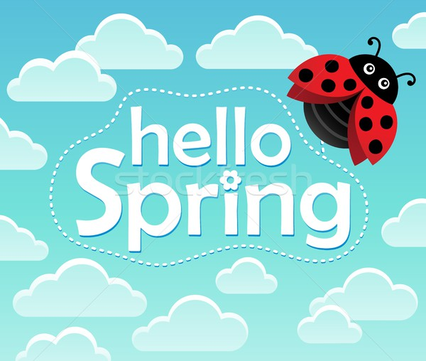Stock photo: Hello spring theme image 1