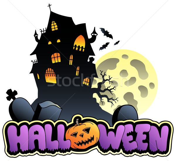 Halloween sign and image 2 Stock photo © clairev