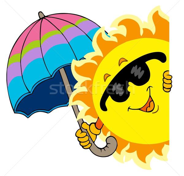 Lurking Sun with umbrella Stock photo © clairev