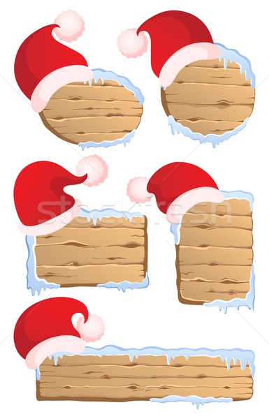 Winter Christmas signs collection 1 Stock photo © clairev