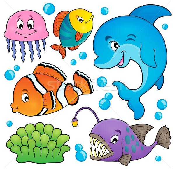 Ocean fauna topic set 1 Stock photo © clairev