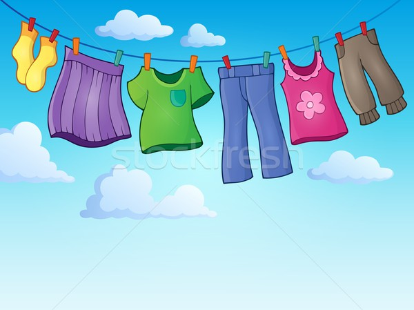 Kleding kleding lijn afbeelding kunst zomer Stockfoto © clairev