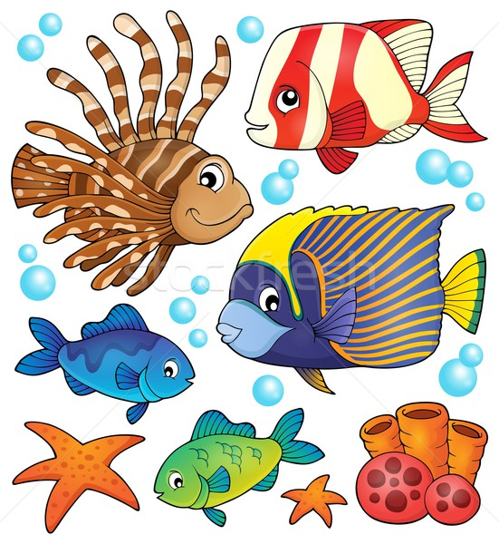 Coral reef fish theme collection 1 Stock photo © clairev
