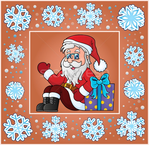 Christmas subject greeting card 7 Stock photo © clairev