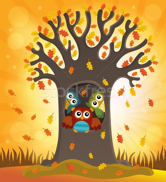 Owl tree theme image 4 Stock photo © clairev