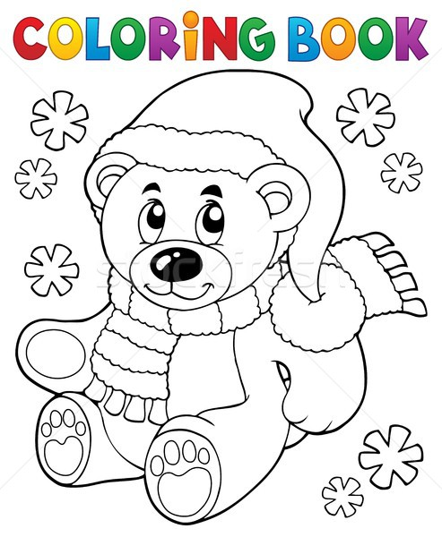 Coloring book teddy bear theme 3 Stock photo © clairev
