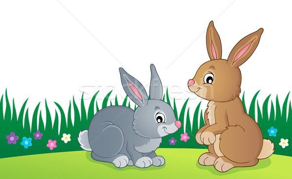 Tavşan konu görüntü tavşan hayvan çizim Stok fotoğraf © clairev
