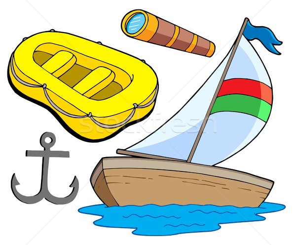 Boat and sailing collection Stock photo © clairev