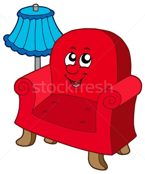 Cartoon armchair with lamp Stock photo © clairev