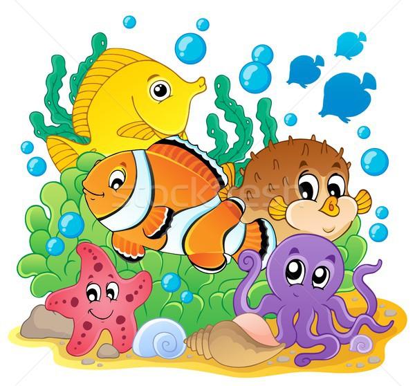 коралловые рыбы изображение счастливым океана подводного Сток-фото © clairev