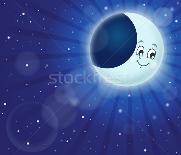 Nachtelijke hemel afbeelding abstract natuur maan achtergrond Stockfoto © clairev