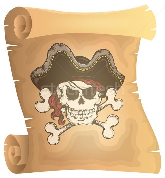 Pirate scroll theme image 3 Stock photo © clairev