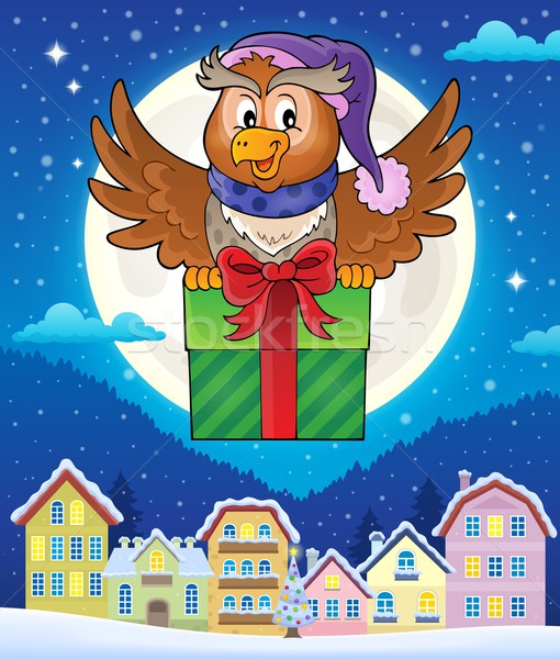 Owl with gift theme image 4 Stock photo © clairev