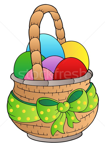 Basket with Easter eggs Stock photo © clairev