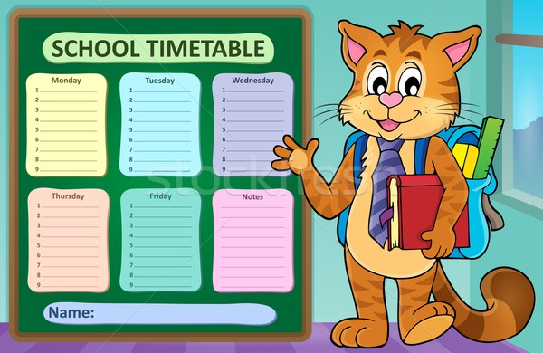 Weekly school timetable concept 1 Stock photo © clairev