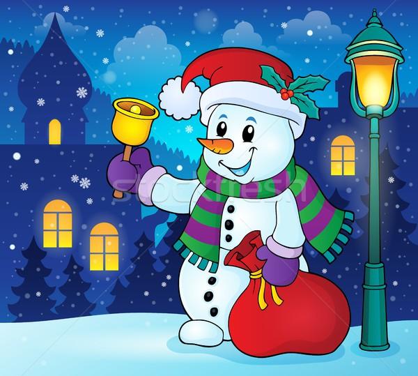 Natal boneco de neve tópico imagem neve arte Foto stock © clairev